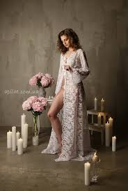 honeymoon sleepwear lace bridal robe f3lingerie nightdress bridal