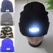 knit hat with led lights womens mens 5 led lights knitted hat winter beanie hip hop crochet