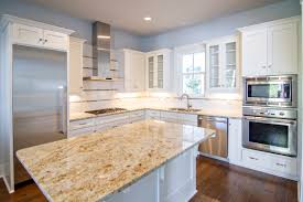 off white kitchen cabinets with antique brown granite warm home design