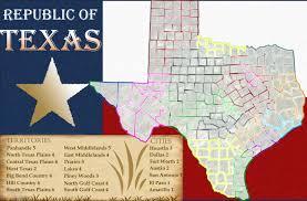 Texas Map Cities Republic Of Texas Map