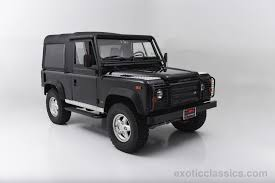 white land rover defender 90 1995 land rover defender 90 exotic and classic car dealership