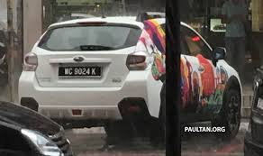 subaru crosstrek 2017 colors spied 2016 subaru xv facelift sighted in malaysia