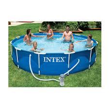 Intex 12x30 Pool Intex 3 6m 12ft Metal Frame Pool Set With Pump Toys R Us