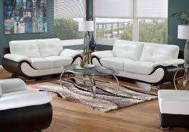 Leather Living Room Furniture Value City Furniture Pertaining To - White leather living room set