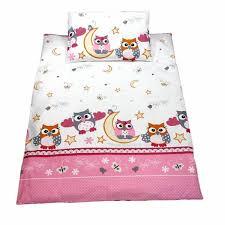 cot duvet covers 100 cotton pink owls owls cot duvet covers