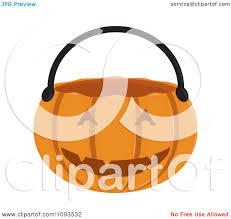 halloween basket clipart halloween pumpkin basket 2 royalty free vector