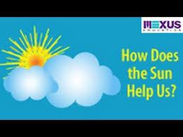 how does the sun help us