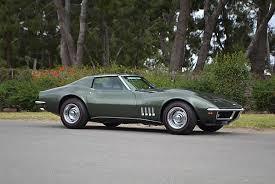 1969 l88 corvette for sale mecum to offer a fathom green 1969 l88 corvette coupe at its