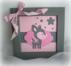 cadre photo chambre bébé cadre pour chambre d enfant fille et gris motif faon