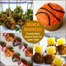 bas cuisine munch madness 14 basketball shaped foods for