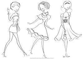 black and white fashion sketches latest fashion style