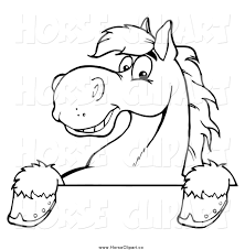 royalty free coloring pages to print stock horse designs