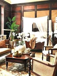 chambre style colonial deco style colonial open interior with furniture and decoration