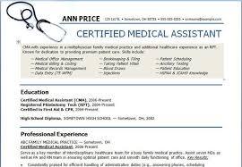 cma resume sample medical assistant resume sample writing guide