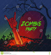 zombie halloween invitations zombie hand coming out from the grave stock vector image 78645908