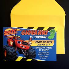 monster invitation blaze and the monster machines invitation blaze and the