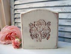 Shabby Chic Napkin Holder by Cream Vintage Wooden Canisters Flour And Sugar Canister Set