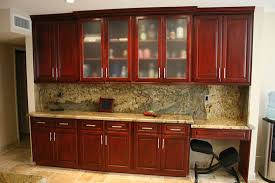 maple artesian rosewood stain wood custom kitchen cabinets