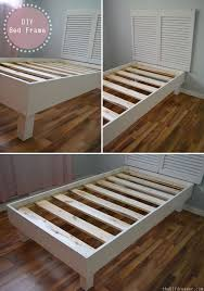 Build Your Own Platform Bed With Headboard by Best 25 Diy Twin Bed Frame Ideas On Pinterest Twin Platform Bed