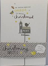 hallmark 8 luxury christening card invites invitations envelopes