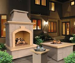 stylish propane outdoor fireplace home design by fuller