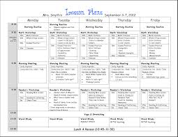lesson plan template writings on the whiteboard all formats