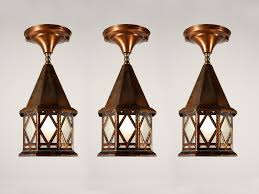 three matching antique exterior copper lanterns nc1092 for sale