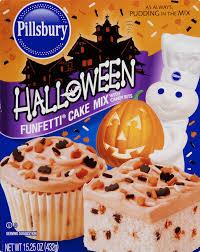 halloween cup cake recipes pillsbury halloween funfetti cake mix with candy bits 15 25 oz