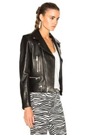leather motorcycle jacket saint laurent classic motorcycle jacket in black fwrd