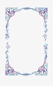 Blue Flower Vine - vector blue border frame blue flower vine png and vector for