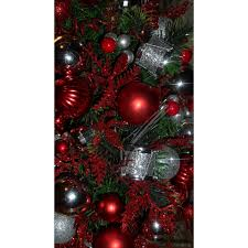 Pre Lit Mini Christmas Tree - red and silver predecorated pre lit miniature christmas tree ann