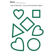preschool lesson plan on heart shapes songs books and assessment