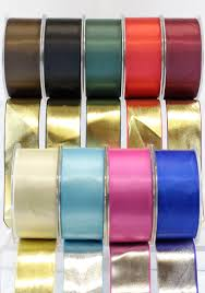 metallic ribbon 1 5 inch satin reversible metallic ribbon may arts wholesale
