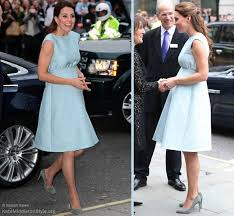 kate wears blue emilia wickstead dress to art room reception at npg