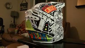 motocross helmet painting sharpie custom helmet moto related motocross forums message
