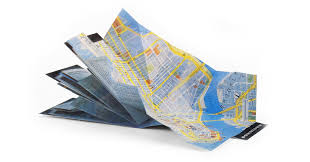 paper maps pop up maps custom folding map dimensional print solutions by