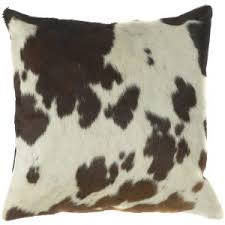 decor indulge in the sumptuous feel of cowhide pillows for living
