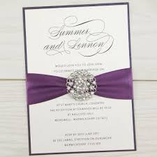 Purple And Silver Wedding Invitations Diy Wedding Invitations Free Samples Pure Invitation Wedding