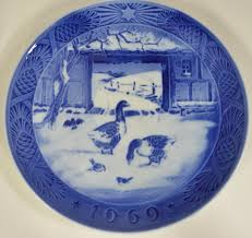 royal copenhagen plate in the farmyard 1969