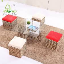 modern interior wicker handicraft hand woven living room sofa