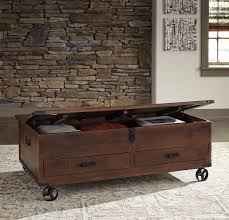 nolan distressed storage coffee table