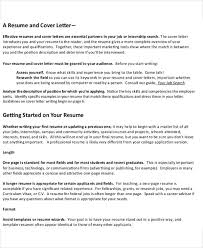 Resume In One Page Sample 54 Manager Resumes In Pdf Free U0026 Premium Templates
