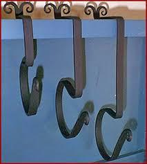 scottish wrought iron mantle hooks