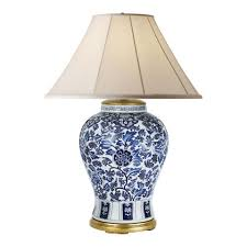 Blue Table Lamp Marlena Large Table Lamp In Blue And White Table Lamps