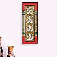 Decorative Item For Home Amazon Com Exclusivelane Dhokra U0026 Warli Handpainted Wall Hanging