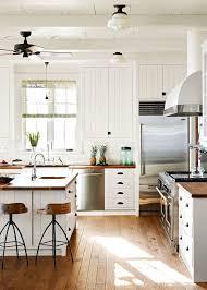 Farmhouse Kitchen Sf Classic Farmhouse Kitchen With Wood Countertops Via Coco Kelley