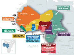 Ghana Africa Map Four New Unions Created In West Central Africa Division Seventh
