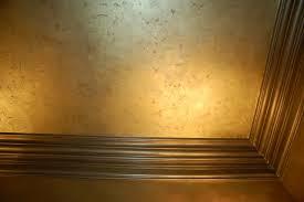 metallic gold plaster troweled walls gilded ceiling metallic