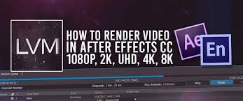 how to render export video in adobe after effects cc hd 1080p