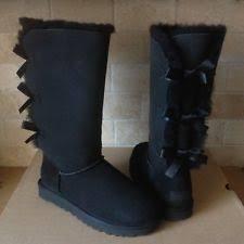 womens grey boots size 11 ugg bailey bow womens 1007308 grey twinface sheepskin wool